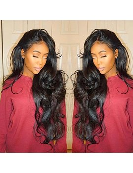 Isshin Beauty 9 A Glueless Full Lace Human Hair Wigs With Baby Hair Body Wave 130% Density Natural Black Brazilian Virgin Hair Bleached... by Isshin Beauty