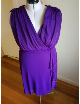 Yours Clothing Cocktail Dress Purple Size16 18 Very Good Condition.Used Once Onl by Yours Clothing
