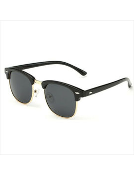 Clubmaster Retro Vintage Sunglasses Half Rimmed Frames Uv400 Unisex Men Women by Unbranded