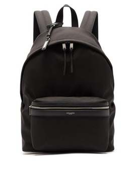 City Canvas Wide Backpack by Saint Laurent