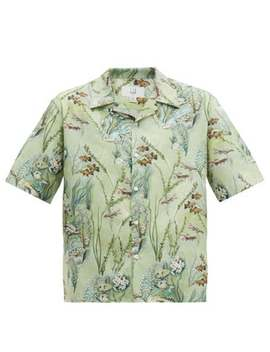 fish-print-silk-shirt by dunhill