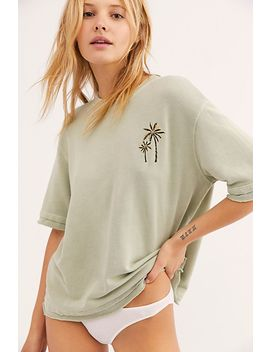 Distressed Palm Embroidered Sweatshirt by Monrow