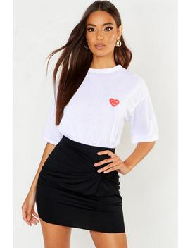 Recycled For The Future Heart Pocket T Shirt by Boohoo
