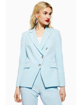 Asymmetric Blue Suit by Topshop