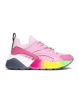 Color Block Faux Leather And Suede Sneakers by Stella Mc Cartney