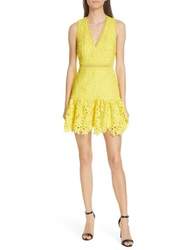 Marleen Fit & Flare Lace Dress by Alice + Olivia