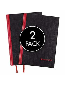 Black N' Red Casebound Hardcover Notebooks, Medium, Black, 96 Ruled Sheets, Pack Of 2 (73405) by Black N' Red