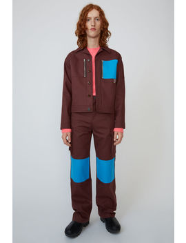 Knee Patch Cargo Pants Chestnut Brown by Acne Studios