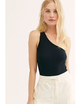 One Shoulder Washed Tank by Lacausa