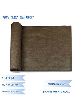 E&K Sunrise 12' X 80' Brown Sun Shade Fabric Sunblock Shade Cloth Roll, 95% Uv Resistant Mesh Netting Cover For Outdoor,Backyard,Garden,Greenhouse,Barn,Plant (Customized by E&K Sunrise