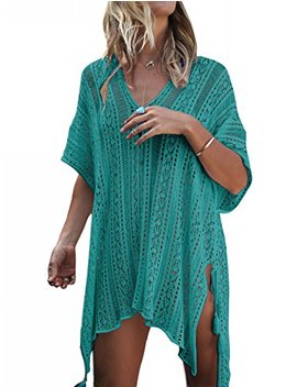 Beskie Bathing Suit Cover Up Biniki Swimsuit Crochet Beachwear Swimwear Dress by Beskie