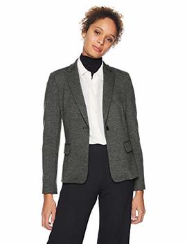 Amazon Brand   Lark & Ro Women's Long Sleeve Knit Jacquard Blazer by Lark %26+Ro