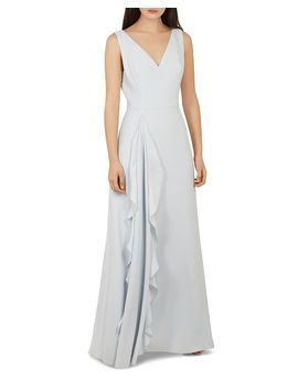 Azaelea Ruffle Detail Gown by Ted Baker
