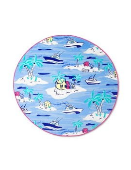 Island Scene Round Beach Towel   Blue   Vineyard Vines® For Target by Blue