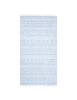 Sea Breeze Pestemal Beach Towel Sky Blue   Linum Home Textiles® by Linum Home Textiles®