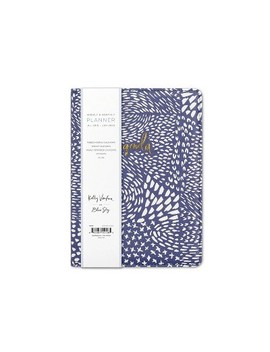 "2019 2020 Academic Planner 8""X 6"" Soft Cover Blue/White   Kelly Ventura For Blue Sky by 2020 Academic Planner 8""X 6"" Soft Cover Blue/White"