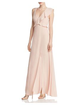 Ruffled Georgette Gown   100% Exclusive by Bcbgmaxazria