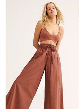 Crispy Cotton Wide Leg Pants  by Scotch &Amp; Soda