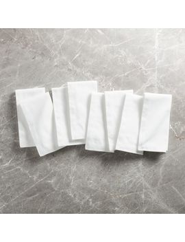 White Dinner Napkins, Set Of 8 by Crate&Barrel