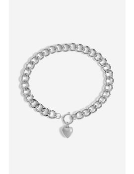 **Chunky Link Heart Charm by Topshop