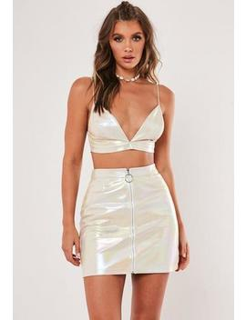 metallic-iridescent-co-ord-mini-skirt by missguided