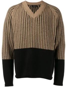 contrast-long-sleeve-sweater by joseph