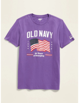 Limited Edition Old Navy 25th Anniversary Flag Tee For Adults by Old Navy