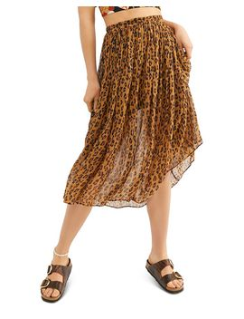 Lydia Leopard Print Skirt by Free People