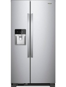 21.4 Cu. Ft. Side By Side Refrigerator   Monochromatic Stainless Steel by Whirlpool