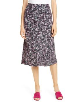 High Waist Wild Rose Print Skirt by Rebecca Taylor