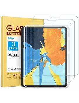 [3-pack]-screen-protector-for-2018-ipad-pro-11,-apiker-tempered-glass-screen-protector-[support-apple-pencil-and-face-id]-[alignment-frame] by apiker