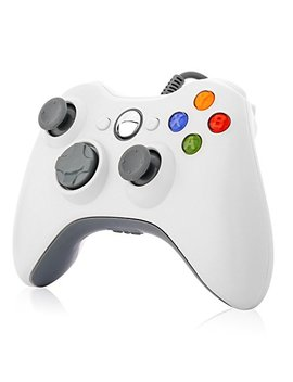 Xbox 360 Controller,Tgjor Wired Usb Game Controller Gamepad Joystick With Shoulders Buttons For Microsoft Xbox & Slim 360 Pc Windows Pc (White) by Tgjor