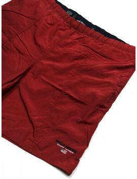 polo-sport-ralph-lauren-swim-shorts-size-xl-red-spell-out-vtg-90s by polo-sport