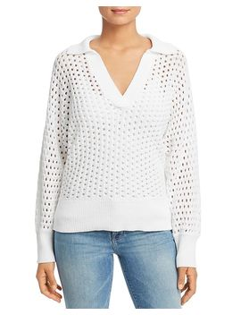 Openwork Polo Sweater by Kate Spade New York