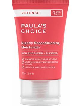 Paula's Choice Defense Nightly Reconditioning Moisturizer W/Wild Cherry, Flaxseed, Neem, Sunflower Seed & Marula Oil, Arugula & Algae Extract,... by Paula's Choice