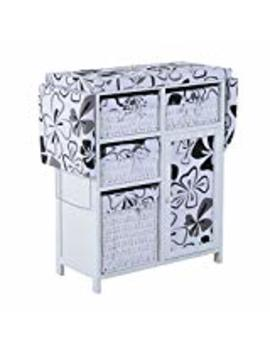 homcom-collapsible-ironing-board-and-shelf-unit-with-storage---hawaiian-flowers by homcom