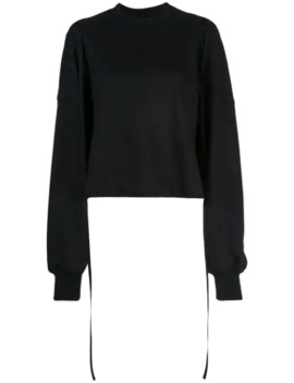 Cropped Patch Embroidery Sweatshirt by Vera Wang