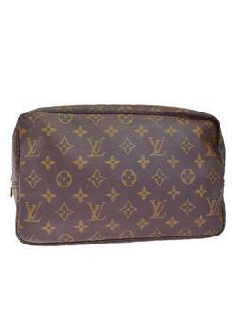 Auth Louis Vuitton Trousse Toilette 28 Clutch Hand Bag Monogram M47522 05 Bf266 by Louis Vuitton