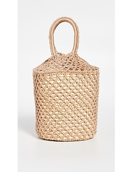 Straw Netted Bucket Bag by Sensi Studio