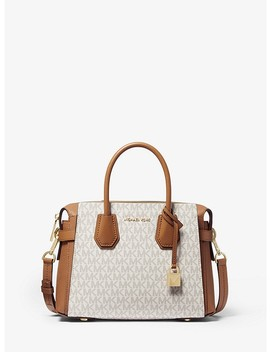 Mercer Small Logo Belted Satchel by Michael Michael Kors