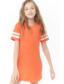 Girls Varsity Striped Trim Dress (Kids) by Forever 21