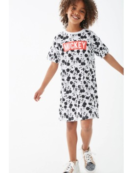 Girls Mickey Graphic T Shirt Dress (Kids) by Forever 21