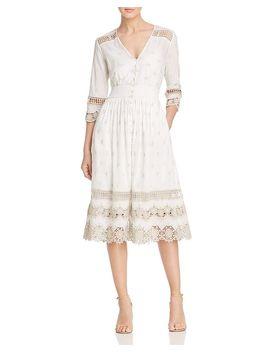 Darci Crochet Trim Cotton Dress by Elie Tahari