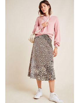 Araminta Silk Midi Skirt by Kachel