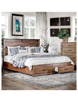 Carbon Loft Marquez Antique Oak Platform Storage Bed by Carbon Loft