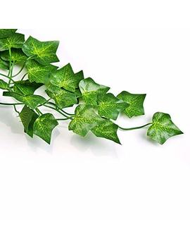 Qc Life 84 Ft Artificial Ivy Fake Greenery Leaf Garland Plants Vine Foliage Flowers Hanging For Wedding Party Garden Home Kitchen Office Wall Decoration(12 Pack) by Qc Life