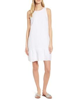 Porte Fino Sleeveless Linen Blend Shift Dress by Tommy Bahama