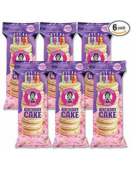 Goodie Girl Cookies, Birthday Cake Sandwich Gluten Free Cookies, Individually Wrapped Snack Pack Cookies, Peanut Free, Kosher, Delicious Snack Cookies (3oz Bag, Pack Of 6) by Goodie Girl Cookies