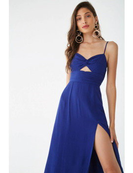 Crinkled Cutout Midi Dress by Forever 21