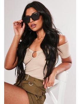 Quay Australia In Control Brown Sunglasses by Missguided